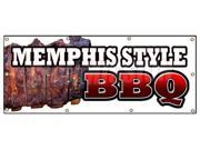 "36""""x96"""" MEMPHIS STYLE BBQ BANNER SIGN beef brisket ribs pork barbque open eat"" 9SIA4433442591"