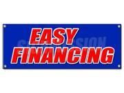 EASY FINANCING BANNER SIGN money cash credit finance payment bank