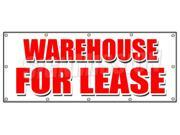 """48""""""""x120"""""""" WAREHOUSE FOR LEASE BANNER SIGN a/c ac build to suit loading free rent"""" 9SIA4433499853"""