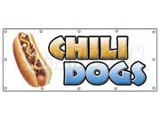 """48""""""""x120"""""""" CHILI DOGS BANNER SIGN hot dog cart stand signs franks dogs wiener"""" 9SIA4431BZ2980"""