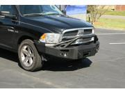 Fab Fours DR09-H2452-1 Heavy Duty Winch Bumper; 2 Stage Black Powder Coated; Front; w/Pre-Runner