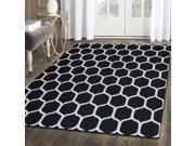 Superior Area Rug 100% Wool, Hand Tufed Flooring Carpet (5'x8'), HONEY COMB, Black/Silver