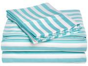 Impressions Striped Cabana Sheet Set for Kids, 600-Thread-Count, Twin XL, Sky Blue