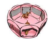 "OxGord Portable 45"" Octagon Exercise Kennel Pet Playpen"