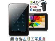 inDigi® 2 in 1 Tablet PC Unlocked Phone 7 Touch Screen Android 4.2 Bluetooth