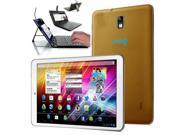Indigi® 7 Android 4.2 Jelly Bean Tablet PC Tab Google Play Premium Leather GOLD