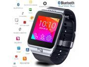Indigi Stylish Bluetooth Sync Smart Watch w/ Optional Micro Sim Card Slot - Unlocked (Silver) 9SIA45W2CF3343