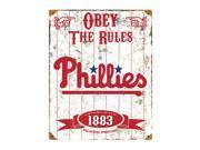 Philadelphia Phillies Vintage Metal Sign