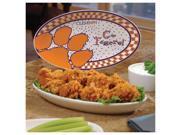 Clemson University Tigers Ceramic Platter Game Day Oval Platter