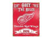 Detroit Redwings Vintage Metal Sign