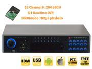 GW High End 32 Channel 960H Realtime DVR (6TB HDD) 30 Fps Playback Mobile Phone Viewable Surveillance CCTV Security Camera Video Recorder