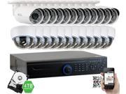 GW 1080P 2.1 Megapixel 32-Channel Plug and Play Complete HD-TVI Security System | (12 Outdoor & 12 Indoor) x 2.1MP HDTVI HD 1080P Security Cameras, 4TB Pre-Installed Hard Drive