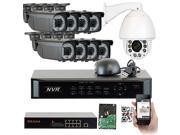 GW 9 Channel Realtime NVR Kit (3TB HD) IP Camera Security System, 1 x Sony 1080P IR High Speed IP Network Outdoor Pan-Tilt-Zoom PTZ Camera and 8 x HD IP Camera 2 Megapixel 2.8-12mm Varifocal Lens