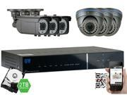 GW Security 2.1 Megapixel HD-TVI 1080P Complete Security System | (6) x 2.1MP HDTVI (True HD 1080P @30fps) Weather Proof Security Cameras, 8-Channel Plug and Play DVR, 2TB Pre-Installed Hard Drive