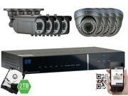 GW Security 2.1 Megapixel HD-TVI 1080P Complete Security System | (8) x 2.1MP HDTVI (True HD 1080P @30fps) Weather Proof Security Cameras, 8-Channel Plug and Play DVR, 2TB Pre-Installed Hard Drive