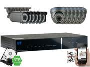 GW Security 2.1 Megapixel HD-TVI 1080P Complete Security System | (12) x 2.1MP HDTVI (True HD 1080P @30fps) Weather Proof Security Cameras, 16-Channel Plug and Play DVR, 3TB Pre-Installed Hard Drive