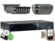 GW Security 2.1 Megapixel HD-TVI 1080P Complete Security System | (16) x 2.1MP HDTVI (True HD 1080P @30fps) Weather Proof Security Cameras, 16-Channel Plug and Play DVR, 3TB Pre-Installed Hard Drive