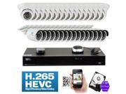 GW 32 Channel H.265 HEVC PoE NVR 3-Megapixel (2048 x 1536) Plug-N-Play Security Camera System - 32x 3MP 1536p @ 30fps Realtime Weatherproof Onvif Bullet & Dome POE IP Cameras, 98 ft Night Vision