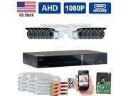 GW HD-AHD (1080P Analog HD) Security System 16 CH 1080P Real Time Recording AHD DVR Kit&#59;(12)x 2.1Megapixel AHD Camera 34 IR LEDs 100ft Weatherproof Night Vision Motion Detection Smartphone View (2TB)