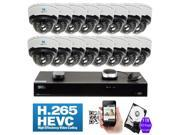 GW 16 CH 100% Plug-N-Play H.265 IP Camera System 3 Megapixel 2048 x 1536P HD Network Video NVR - 16 x 3MP 1536p @30fps Realtime 2.8~12mm Varifocal Zoom Waterproof IP PoE Cameras (All Cables Included)