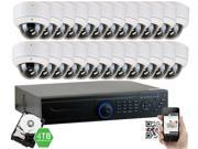 GW Security 2.1 Megapixel HD-TVI 1080P Complete Security System | (24) x 2.1MP HDTVI (True HD 1080P) Weather Proof Security Cameras, 32-Channel Plug and Play DVR, 4TB Pre-Installed Hard Drive