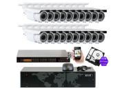 GW 5MP (2592x1920p) 24 Channel 1920P NVR PoE IP Security Camera System - 20 x HD 2.8~12mm Varifocal Zoom 196ft IR IP Camera - 5 Megapixel (More Pixels Than 1080P, 300% More Detailed Than 720P)