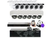 GW 5MP (2592x1920p) 16 Channel 1920P NVR PoE IP Security Camera System - 12 x HD 2.8~12mm Varifocal Zoom 196ft IR IP Camera - 5 Megapixel (More Pixels Than 1080P, 300% More Detailed Than 720P)
