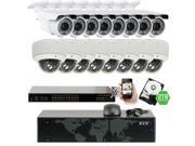 GW 5MP (2592x1920p) 16 Channel 1920P NVR PoE IP Security Camera System - 16 x HD 2.8~12mm Varifocal Zoom 196ft IR IP Camera - 5 Megapixel (More Pixels Than 1080P, 300% More Detailed Than 720P)