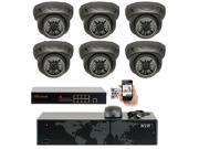 GW Security 8 Channel 5MP NVR IP Camera Network PoE Surveillance System , (6) x HD 1920P Weatherproof Dome Security Cameras (Super 5MP is much higher than HD resolution of 1080p and 720p)