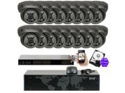 GW Security 16 Channel 5MP NVR IP Camera Network PoE Surveillance System , (16) x HD 1920P Weatherproof Dome Security Cameras (Super 5MP is much higher than HD resolution of 1080p and 720p)