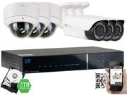 GW 1080P 2.1 Megapixel 8-Channel Plug and Play Complete HD-TVI Security System | (3 Outdoor & 3 Indoor) x 2.1MP HDTVI (True HD 1080P @30fps) Security Cameras, 2TB Pre-Installed Hard Drive