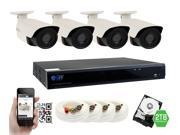 GW 4 Megapixel HD 1440P Complete Security System | (4) x 4MP Outdoor Bullet Security Cameras, 8-Channel Plug and Play 5-In-1 DVR/ XVR , True 4MP HD 1440P @30fps, Double the resolution of HD 2MP 1080P