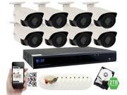 GW 4 Megapixel HD 1440P Complete Security System | (8) x 4MP Outdoor Bullet Security Cameras, 8-Channel Plug and Play 5-In-1 DVR / XVR , True 4MP HD 1440P @30fps, Double the resolution of HD 2MP 1080P