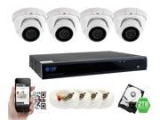GW 4 Megapixel HD 1440P Complete Security System | (4) x 4MP Outdoor Dome Security Cameras, 8-Channel Plug and Play 5-In-1 DVR / XVR, True 4MP HD 1440P @30fps, Double the resolution of HD 2MP 1080P