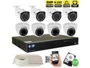 GW 5MP 1944P 8CH 4K H.265 HEVC NVR PoE Security System, 2.8~12mm Optical Zoom Motorized Lens, (8) x Weather Proof 5 Megapixels IP Camera, Remotely Zoom In/Out Control from Smartphone, 2TB HDD