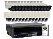 GW 32CH 4K NVR H.265 1920P 5 Megapixel Network Video Plug & Play IP Camera Security System - (24) x Sony CMOS Sensor POE 5MP 2.8~12mm Varifocal Bullet & Dome IP