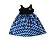 Arizona Wildcats Colosseum Girls Navy Blue Chevron Cotton Tank Top Dress (M)