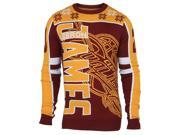 Cleveland Cavaliers FC Maroon Gold LeBron James Knit Player Ugly Sweater (L)