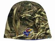 Kansas Jayhawks TOW Realtree Max5 Blue Seasons Reversible Knit Beanie Hat Cap 9SIA46M3MD4581