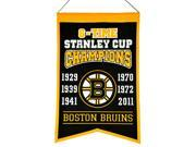 "Boston Bruins NHL 6-Time Stanley Cup Champions Wool Banner (14"""" x 22"""")"" 9SIA46M57N5005"
