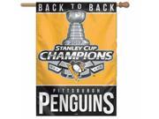 "Pittsburgh Penguins 2017 Stanley Cup Champions """"Back to Back"""" Banner Flag"" 9SIA46M5UY6601"