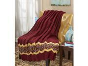 Herrschners Spiced Ripple Throw Crochet Afghan Kit 9SIA46Y4041850