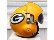 GREEN BAY PACKERS FIGHTER PILOT HELMET - FOOTBALL TAILGATING - USAF AIR FORCE - AARON RODGERS - MOTORCYCLE S M L XL