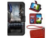 Samsung Galaxy S4 Mini Wallet Case, Onelee - Transformers Premium PU Leather Case Wallet Flip Stand Case Cover for Samsung Galaxy S4 Mini with Card Slots 9SIA4783VT9462