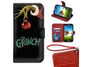 Samsung Galaxy S3 Mini Wallet Case, Onelee - The Grinch Premium PU Leather Case Wallet Flip Stand Case Cover for Samsung Galaxy S3 Mini with Card Slots 9SIA4783VT9068
