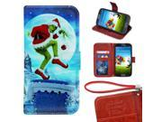 Samsung Galaxy S3 Mini Wallet Case, Onelee - The Grinch Premium PU Leather Case Wallet Flip Stand Case Cover for Samsung Galaxy S3 Mini with Card Slots 9SIA4783VT9076
