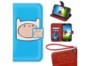 Samsung Galaxy A5 Wallet Case,Adventure Time With Finn And Jake Image Premium PU Leather Protective Case with Card Holder for Samsung Galaxy A5 9SIA4783X58147