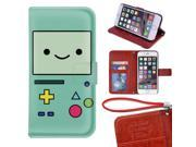 iPhone 6/6s Plus Wallet Case[5.5 inch],Adventure Time With Finn And Jake Image Magnetic PU Leather Protective Case with Card Holder for iPhone 6/6s Plus 9SIA4783X58006