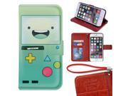 iPhone 6/6s Plus Wallet Case[5.5 inch],Adventure Time With Finn And Jake Image Magnetic PU Leather Protective Case with Card Holder for iPhone 6/6s Plus 9SIA4783X58015