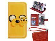 iPhone 6/6s 4.7 inch Wallet Case,Adventure Time With Finn And Jake Image Magnetic PU Leather Protective Case with Card Holder for iPhone 6/6s 9SIA4783X58034